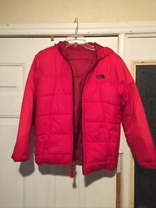 The North Face Boys Reversible Winter Jacket Coat Size Large 14/16 Red Ex