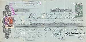 """Argentina postal revenue pagare of  """" Ley de sellos"""" 1938 15 cts ussed  RR !!"""