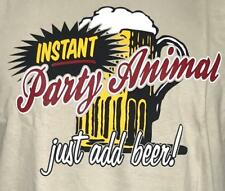 Instant Party Animal Just add Beer Men's Funny Drinking T shirt M,L,XL,XXL,3XL