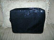 Nine & Co. Black Sequins Laptop Pad Sleeve 11 x 13