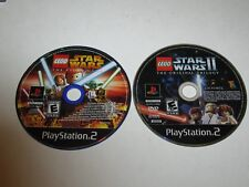 Lot of 2 LEGO Star Wars Games Playstation 2 Sony PS2 - Discs Only