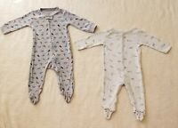 2 Pcs Carter's Infant Baby Pajamas Sleep N Play Footed Bodysuit 9M