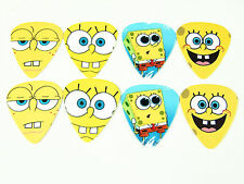 10pcs 0.71mm Musical Bass Cartoon American Spongebob Guitar Picks Face Plectrum