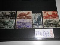FRANCOBOLLI LOTTO ITALIA OCCUPAZIONI ERITREA 1933 TIMBRATI USED (CAT.5)