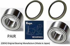 Front Wheel Hub Bearing (OEM) KOYO & Seal FOR 2000-2006 Toyota Tundra 2WD (PAIR)