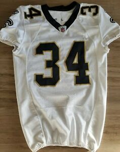 New Orleans Saints Game Worn Jersey - #34  signed Patrick Robinson 2010