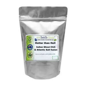 HOTTER THAN HELL - INDIAN GHOST CHILI CHILLI ATLANTIC SALT FUSION FOR THE BRAVE