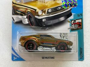 HOT WHEELS 2018 SUPER TREASURE HUNT 68 MUSTANG #5/5 WITH RUBBER TIRES