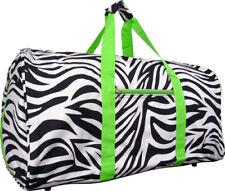 04087c078b65 lime green zebra duffle bag