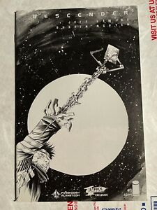 Descender 1 Forbidden Planet Jetpack exclusive variant B&W Jeff Lemire NM+