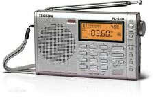 TECSUN PL-450 Digital FM-Stereo Synthesiz Dual Conversion FM  Radio PL450-Silver