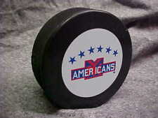 NHL Vintage New York Americans Logo In GlasCo Official Souvenir Hockey Puck