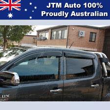 Premium Weather Shields 4 Door Window Visors to suit TOYOTA Hilux 2005-2015