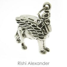 925 Sterling Silver Greek Mythology Griffin Griffon Gryphon Charm Made in Usa
