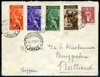 Vaticano 1935 busta viaggiata n. 41 + 42 + 43 + 45 + 19 (s119)
