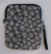 o Black & white rose TABLET padded cover Ganz
