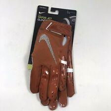 Nike Vapor Jet Football Gloves Texas Longhorns Adult Size L Cq3428