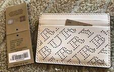 Burberry Men's Card Case Wallet - White - New!
