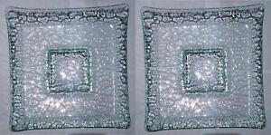 "krystallo serving plate glass square 13"" x 13"" buy 2PCS for P1,200 crazy sale"