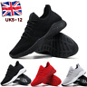 Mens Memory Foam Casual Walking Running Gym Sport Slip On Trainers Shoes Size UK