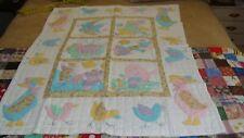 Nursery Rhyme Appliqued Crib Quilt Blanket Coverlet - NIP