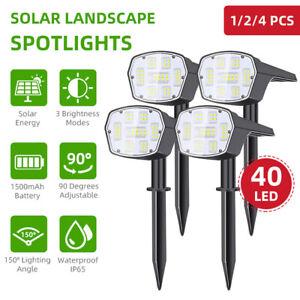40LED Solar Landscape Spotlight Waterproof Solar Powered Outdoor Lawn Lamp