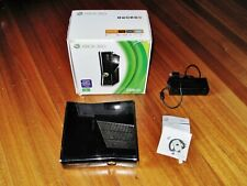 XBox 360 video game Console. Box & headset. Gloss Black. Works Great! Microsoft