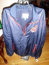 Genuine Merchandise Cleveland Indian Zip Windbreaker Jacket Mesh Lined M NWT