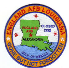 USAF BASE PATCH, ENGLAND AFB LOUISIANA, CLOSED 1992                         Y