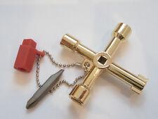Universal-  Schaltschrankschlüssel als Geschenk vergoldet Elektro Elektriker Neu