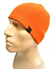 PUMA Orange Deckhand Beanie Logo Tag Free USA Shipping