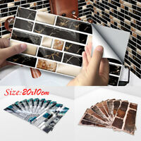 9pcs 3D Brick Wall Sticker PVC Self-adhesive Tile Sticker Kitchen Bathroom Decor