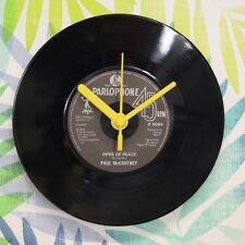 "Paul McCartney 'Pipes Of Peace' Retro Chic 7"" Vinyl Record Wall Clock"