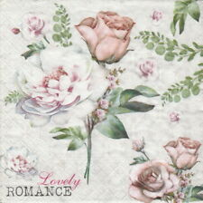 4x Paper Napkins for Party, Decoupage Craft- Lovely romance