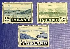 Iceland Series 1952 Air Mail Glaciers & Planes - Complete - MNH/MH - XF/S