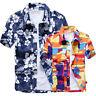 Men's Hawaiian Shirt Floral Beach Short Sleeve Shirts Tops Blouse Plus Size