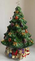 LENOX HOLIDAY VILLAGE MUSICAL LIGHT UP CHRISTMAS TREE CENTERPIECE BULBS & BOX