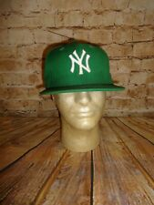 New Era New York Yankees 59Fifty Fitted Hat Green Baseball Logo Cap Size 7 3/8