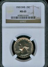 1965 SMS Washington Quarter NGC MS65..