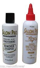 Salon Pro Exclusive Bonding Glue Remover and  Conditioning Remover Shampoo 4 oz