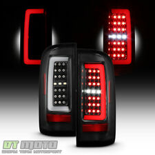Black 2015 2016 2017 2018 Chevy Colorado Full LED Tube Tail Lights Brake Lamps