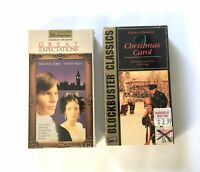 Charles Dickens VHS Lot: Great Expectations & A Christmas Carol, Sealed Vintage
