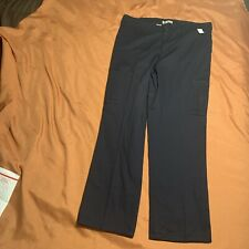 """Dickies Women's Industrial Cotton Cargo Pant Size 14 31"""" Inseam Blue"""