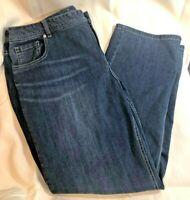 Lane Bryant Genius Fit Size 20 Regular Straight Leg 5 Pocket Jeans Blue Denim