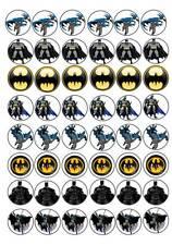 48 BATMAN bat man Cup Cake Fairy Bun Edible Wafer Rice Toppers Birthday Party