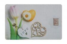 Geschenkkarte Motivkarte Silberbarren 999er Silber 1g Gramm Liebe Love Glück