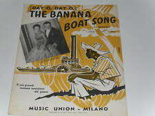SPARTITI MUSICALE-(DAY O, DAY O,)- THE BANANA BOAT SONG BEL SPARTITO
