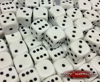 50 Six Sided Dice - 12mm White - Wargaming D6 Warhammer Space Marines High Elf