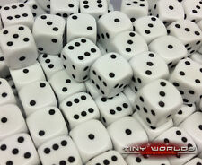 50 SIX FACES DICE - 12mm Blanc-wargaming D6 WARHAMMER SPACE MARINES haut-elfe