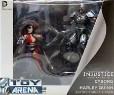 The New 52 Dc Comics Unlimited Injustice Cyborg Versus Harley Quinn 2-Pack Set